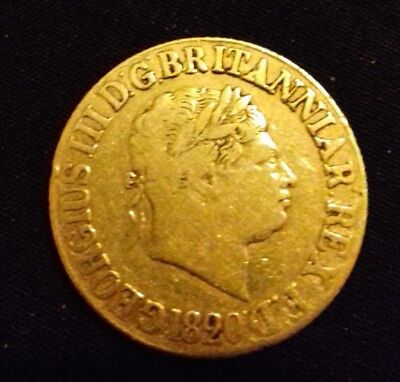 1820 George III Gold Sovereign - Great Britain
