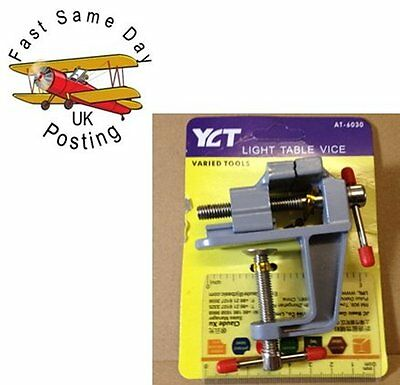 """light MINI BABY VICE MODEL MAKING BENCH TABLE FIX CLAMP SMALL 2"""" UK good Quality"""