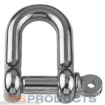 8mm Stainless Steel D Shackle Dee A4-AISI 316 3000kgs MBL FREE P+P