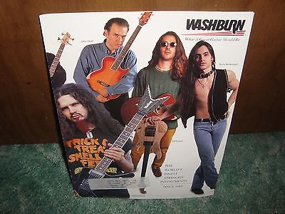 Washburn  Guitar Catalog 1995  Dimebag Darrell  Pantera  Nuno  Shear 40 Pages