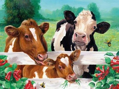 Cow Family - Cross Stitch Chart - Free Post