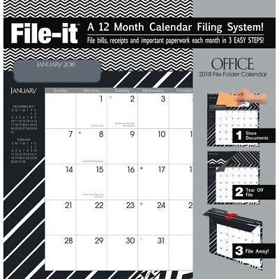 The LANG Companies WSBL Office 2018 File-It Office Wall Calendar Free Shipping