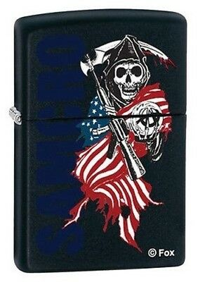 Zippo Lighter - Sons of Anarchy SAMCRO Black Matte