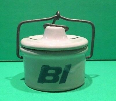Vintage 1970s Braniff International Airlines cheese/butter Crock Individual 2