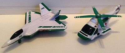 Hess Oil Co. Jet & Helicopter Toy Vehicles With Lights & Sounds