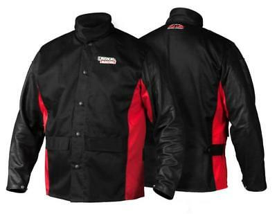 Lincoln Electric Large K2987 Shadow Grain Leather Sleeve Welding Jacket