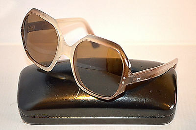Vintage Women's Plastic Brown Sunglasses Made in France