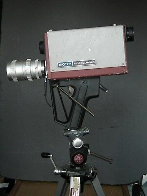 SONY AVC-3400 VIDEOCORDER CAMERA & TV ZOOM LENS 64mm *UNTESTED* REPAIR OR PARTS*