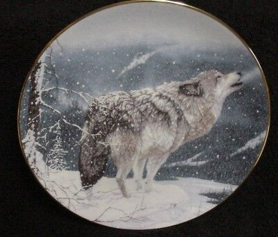HAMILTON COLLECTION WOLF Plate LONE WOLF Jeff Tift NEAT! Winter