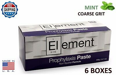 Element Prophy Paste Cups Mint Coarse 200/box Dental W/flouride - 6 Boxes