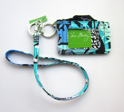 *New with tags*Vera Bradley Zip ID Case and Lanyard in Camofloral