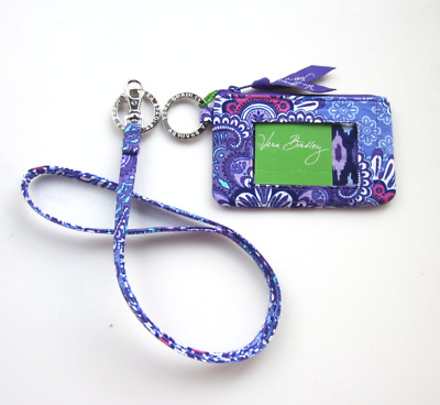 *New with tags*Vera Bradley Zip ID Case and Lanyard in Lilac Tapestry