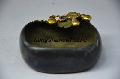 EXQUISITE CHINESE OLD COPPER HANDWORK CARVED BRUSH WASHER  zp