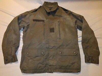Vintage Military Style Olive Drab Green Thick Cotton Button Front Hook/Loop Coat