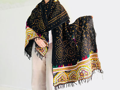 Vintage Rabari Wool Shawl And Throw. Gorgeous Example.