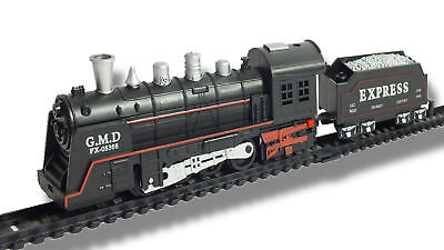 Rail King Classic Kids Train Set with Lights and Sound