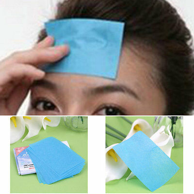 50 Pcs Facial Oil Control Absorption Film Tissue Makeup Blotting Paper DT