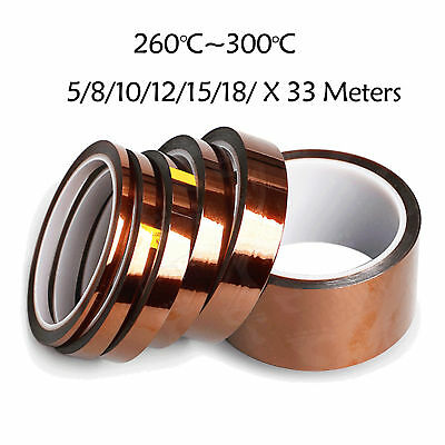 Heat Resistant High Temperature adhesive Polyimide for Kapton Tape   AU seller