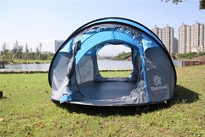 Large Outdoor Camping Pop Up Tent 3-4 Persons Waterproof Automatic Instant Tent