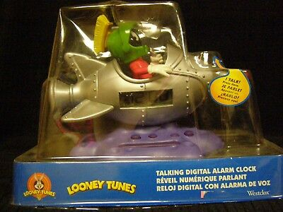 New - Marvin the Martian Talking Digital Alarm Clock by Westclox - Looney Tunes