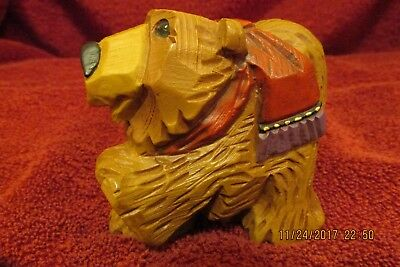 David Frykman Figurine Brown Bear with Red Scarf