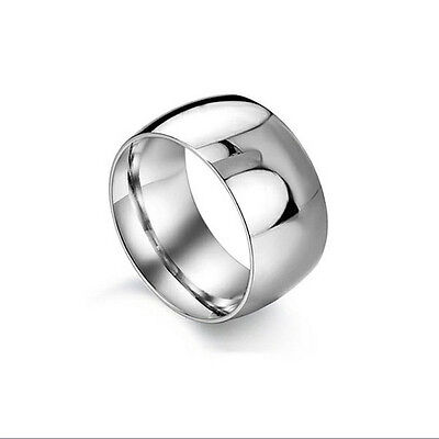 NEW Thick Plain Silver Stainless Steel Ring Band Wrap Rings Jewelry Fashion Gift