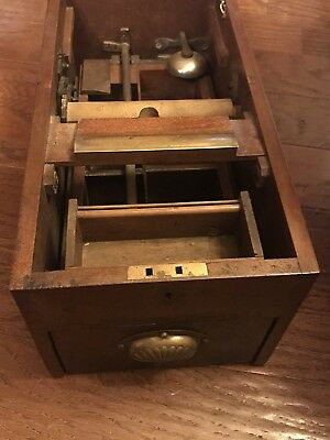 Antique Primitive Gledhilll Brass Cash Register Victorian.