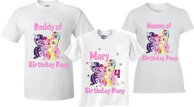 My Little Pony Birthday Girl Family Birthday Cute matching T-Shirts