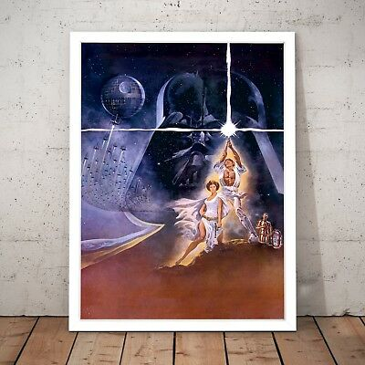 Star Wars Episode 4: A Hope Movie Art Poster Print - A4 to A0 Framed