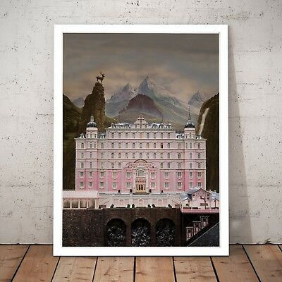 The Grand Budapest Hotel Movie Art Poster Print - A4 to A0 Framed