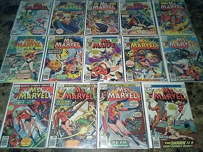 Ms Marvel 2 3 4 5 6 7 8 9 10 11 12 13 14 15 NM- to VF 9.2 to 8.0 High Grade Lot