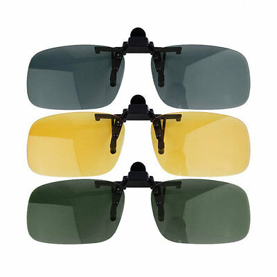 Clip-on Lens Polarized Day Night Vision Driving Glasses Sunglasses Eyewear YH
