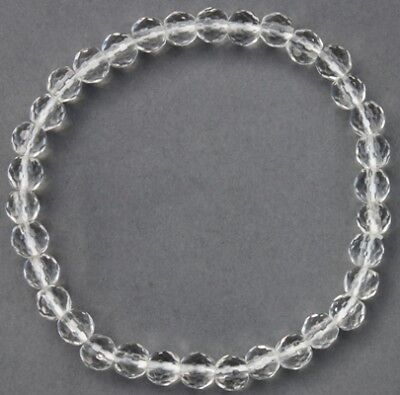 "Bracelet Cristal de roche facetté 5/6 mm ""Large"""