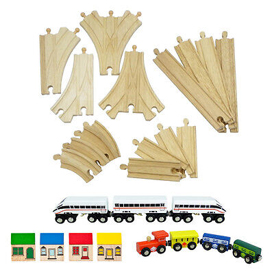 Wooden Train Set Expansion Pack - Compatible with Brio & Thomas