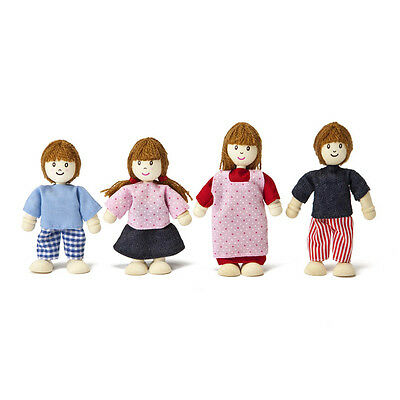 Wooden Doll House Family of 4 - Pretend Play - Educational Toys - FREE POSTAGE