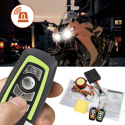 Motorcycle Alarm System Motorbike ABS Anti-theft Security Remote Control