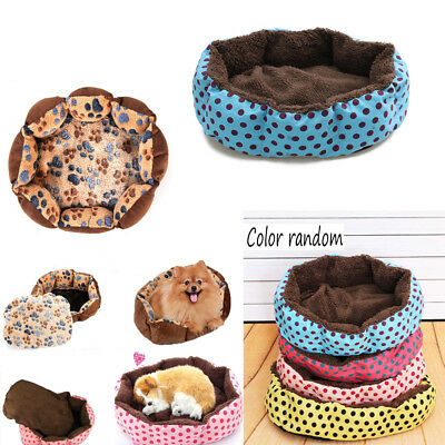 Hot Small Medium Pet Dog Puppy Cat Soft Fleece Warm Nest Bed House Cotton Mat
