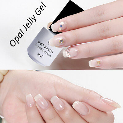 5ml Nail Art UV Gel Polish Opal Jelly White Soak Off Varnish DIY Born Pretty