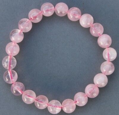 "Bracelet Quartz rose 8 mm ""Large"""