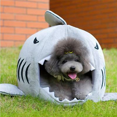 Warm Soft Cat House Winter Pet Sleeping Bag Beautiful Shark Dog Kennel Cushion