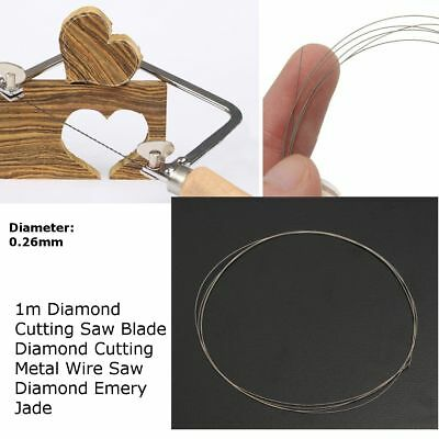 1-10PCS 0.26MM Diamond Cutting Wire Jade Saw Blade For Metal Emery Jade Glass