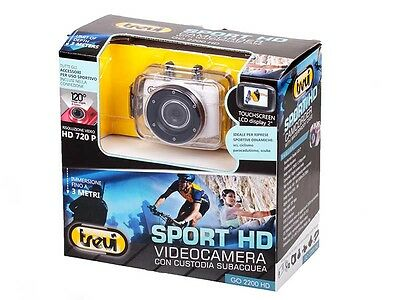 Videocamera Sport Trevi Go 2200 HD custodia Sub Go mini video pro sportiva