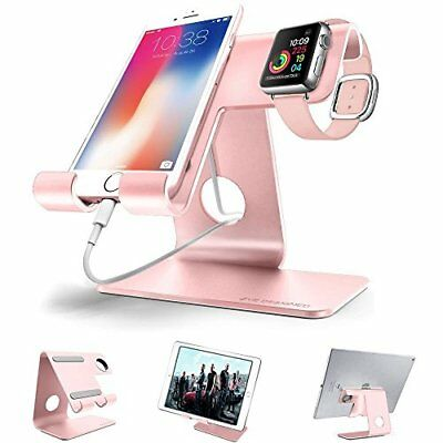 2 in 1 Aluminium Charging Stand f/ Apple iWatch Smartphone & Tablets 12.9'' Rose