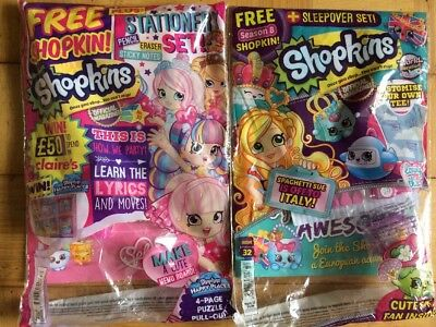 2 x Shopkins magazines NEW Issues 14-34 You Choose
