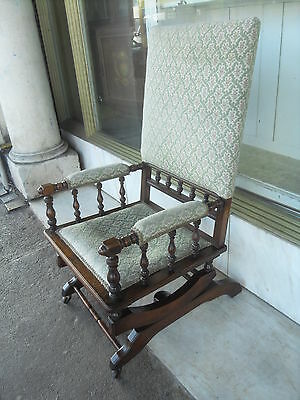 Edwardian Antique Mahogany Rocking Chair / Antique Rocking Armchair
