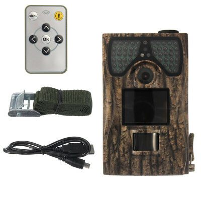 Fototrappola Mimetica Nuova Videocamera Spia  Invisibile 12Mp Full Hd Hunting