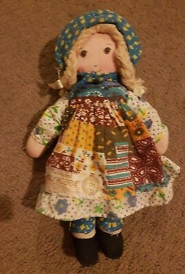 Vintage Holly Hobbie Knickerbocker Doll  APP 22 cm Height