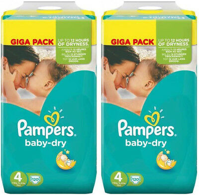 Pampers Baby Dry Lot de 240 Couches Taille 4 Maxi de 8 à 16kg Giga Pack