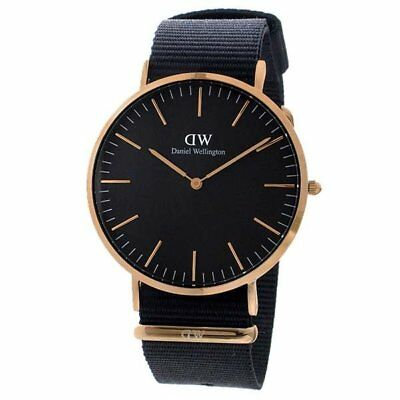daniel wellington classic cornwall 40mm dw00100148 schwarz. Black Bedroom Furniture Sets. Home Design Ideas