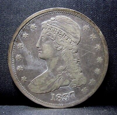 1837 Capped Bust Half Dollar ✪ Vf Very Fine ✪ 50C Silver L@@k Now ◢Trusted◣